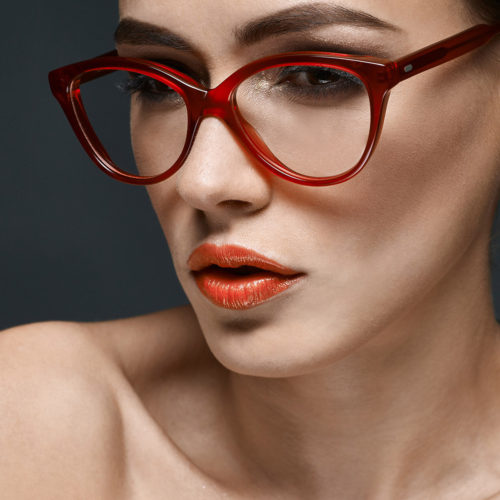 makeup for fashion shoot - red lipstick