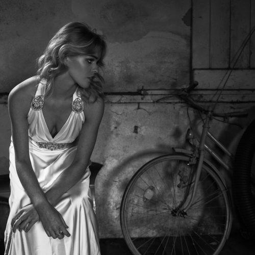 makeup for editorial shoot - wedding dress