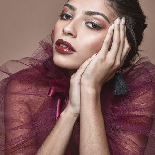 Makeup for beauty photo shoot