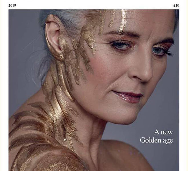 Fashion shoot makeup for Goldie Magazine - front cover