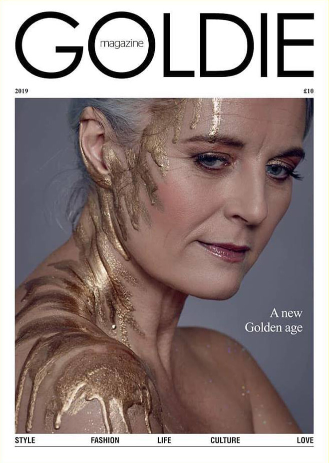 Makeup for Goldie Magazine cover